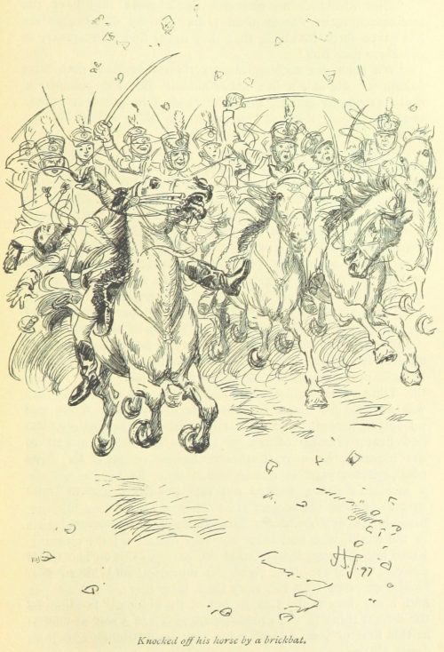 Jane Austen Northanger Abbey - knocked off his horse by a brickbat
