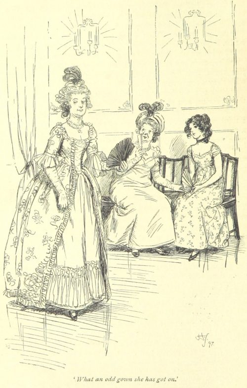 Jane Austen Northanger Abbey - What an odd gown she has got on!