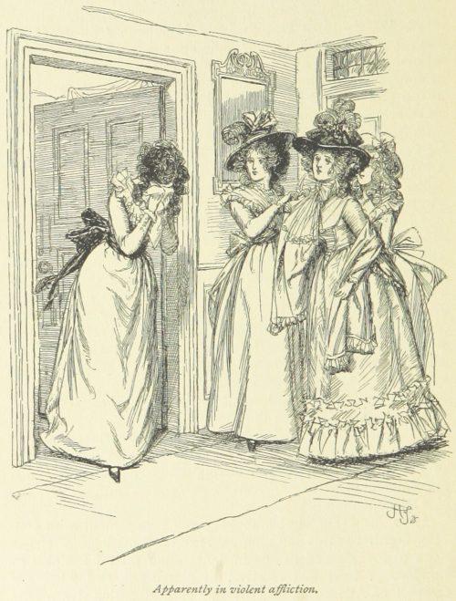 Jane Austen Sense and Sensibility - Apparently in violent affliction