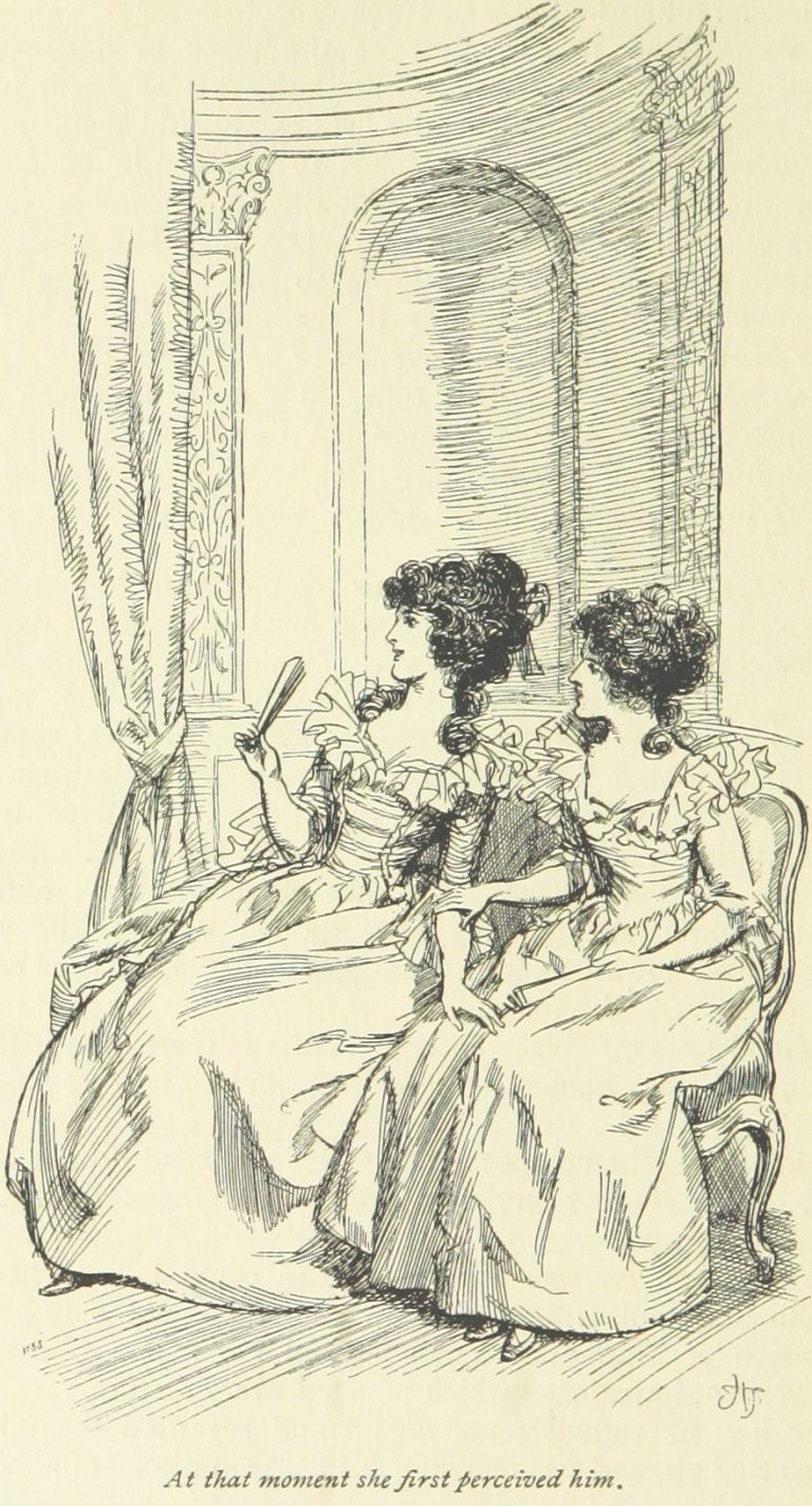 Jane Austen Sense and Sensibility - At that moment she first perceived him