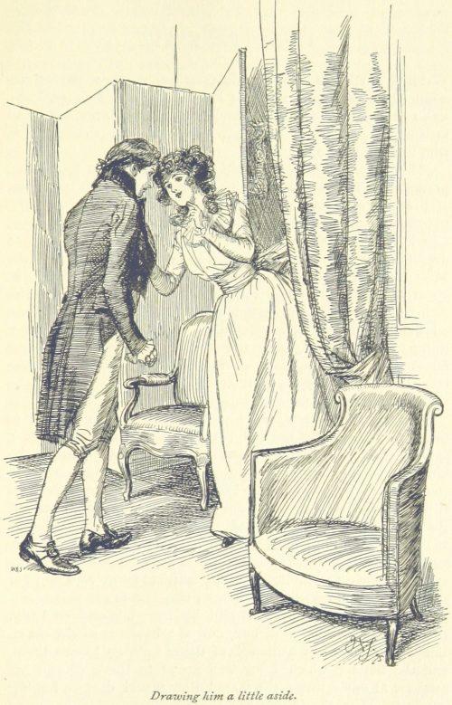 Jane Austen Sense and Sensibility - Drawing him a little aside