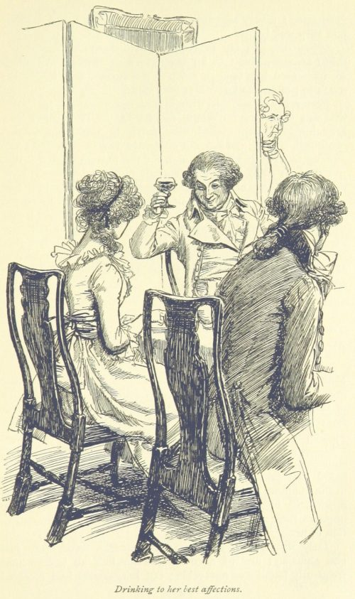 Jane Austen Sense and Sensibility - Drinking to her best affections