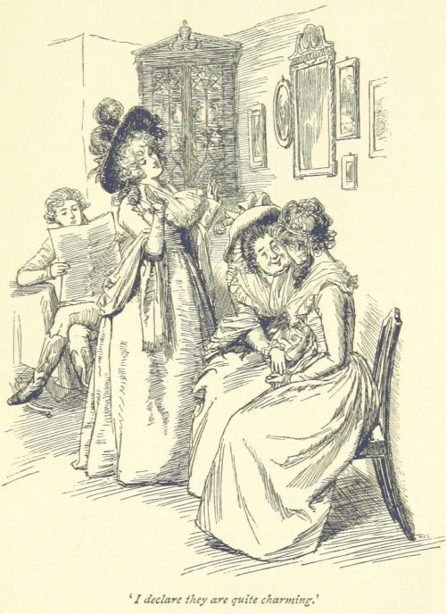 Jane Austen Sense and Sensibility - I declare they are quite charming