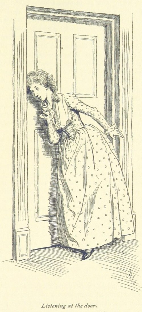 Jane Austen Sense and Sensibility - Listening at the door