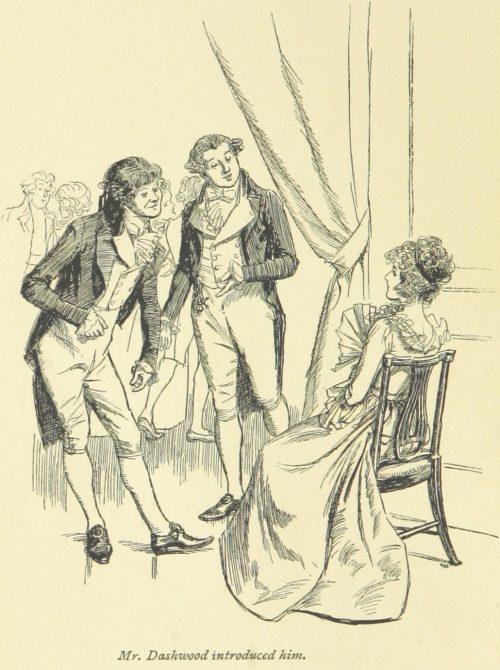 Jane Austen Sense and Sensibility - Mr. Dashwood introduced him