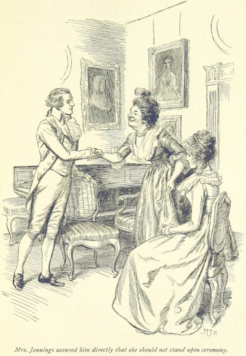 Jane Austen Sense and Sensibility - Mrs. Jennings assured him directly that she should not stand upon ceremony