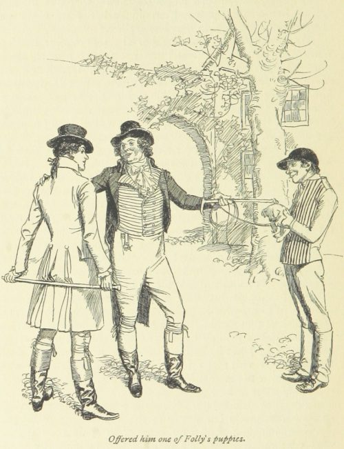 Jane Austen Sense and Sensibility - Offered him one of Folly's puppies