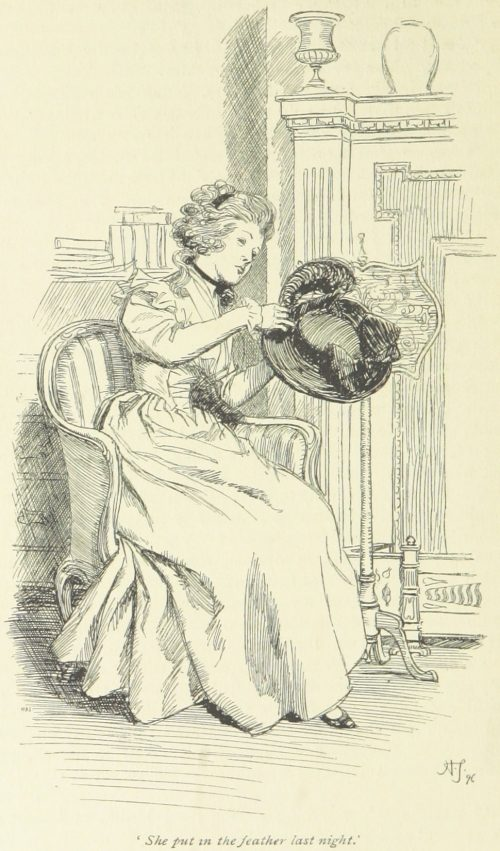 Jane Austen Sense and Sensibility - She put in the feather last night