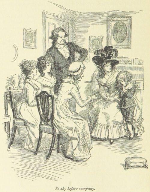 Jane Austen Sense and Sensibility - So shy before company