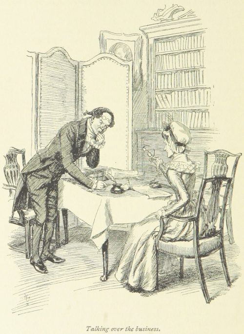 Jane Austen Sense and Sensibility - Talking over the business