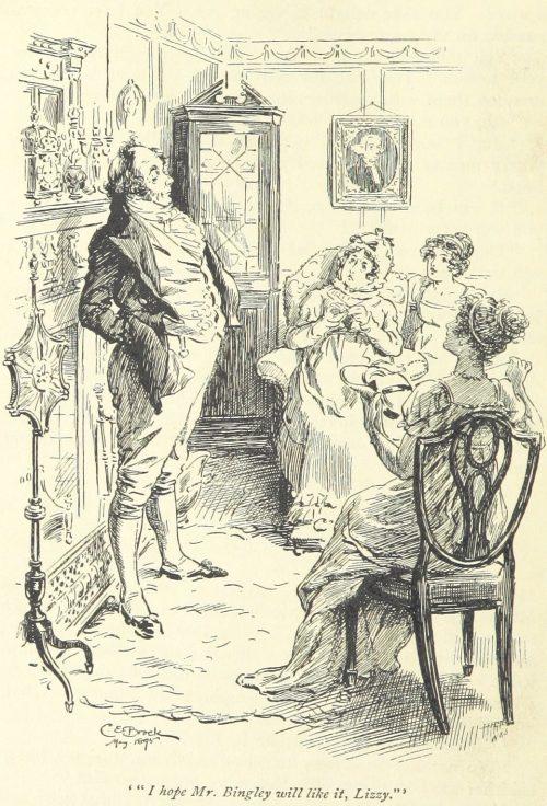 Jane Austen Pride and Prejudice - I hope Mr. Bingley will like it Lizzy