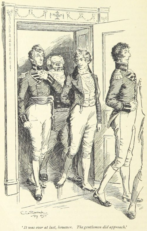 Jane Austen Pride and Prejudice - It was over at last however. The gentlemen did approach