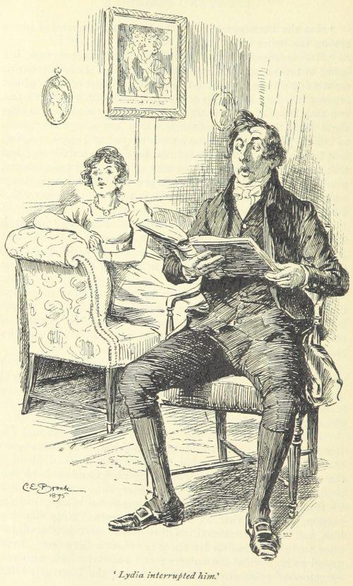 Jane Austen Pride and Prejudice - Lydia interrupted him