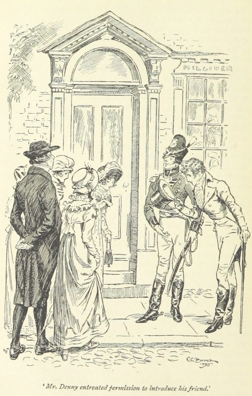 Jane Austen Pride and Prejudice - Mr. Denny entreated permission to introduce his friend