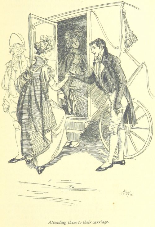 Jane Austen Mansfield Park - attending them to their carriage