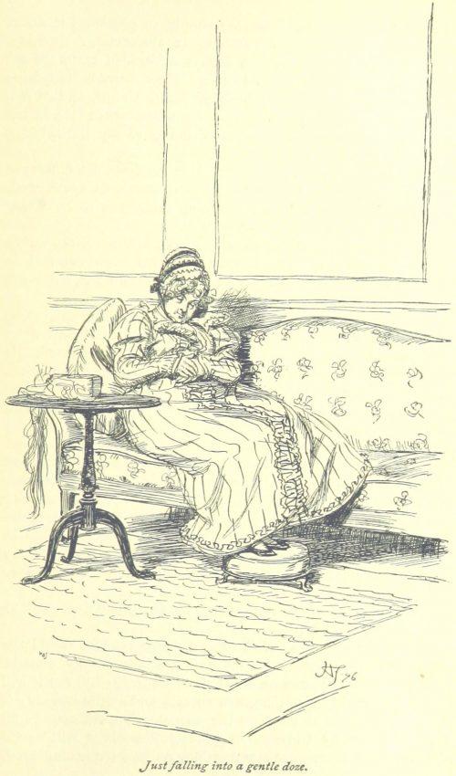 Jane Austen Mansfield Park - just falling into a gentle doze