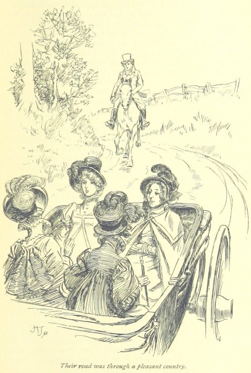 Jane Austen Mansfield Park - Their road was through a pleasant country