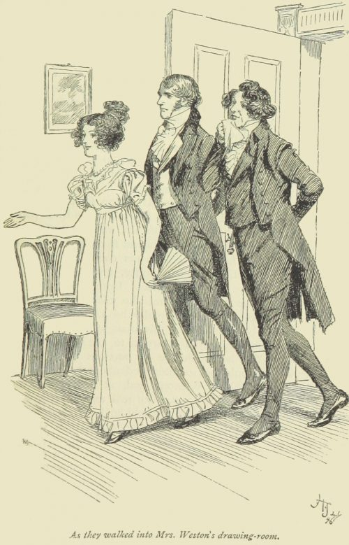 Jane Austen Emma - as they walked into Mrs. Weston's drawing-room