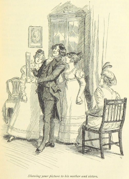 Jane Austen Emma - showing your picture to his mother and sisters