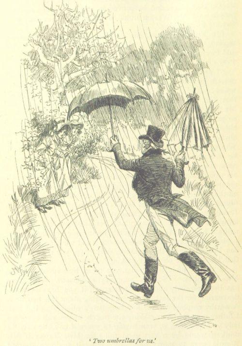 Jane Austen Emma - two umbrellas for us