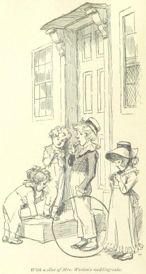 Jane Austen Emma - with a slice of Mrs. Weston's wedding-cake