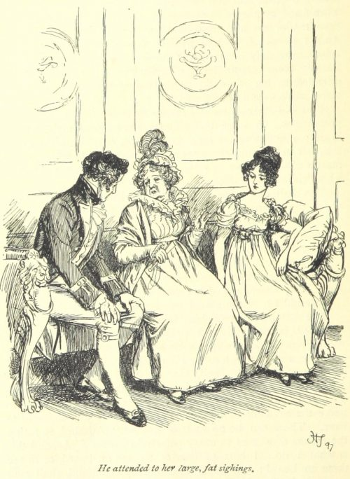 Jane Austen Persuasion - he attended to her large fat sighings
