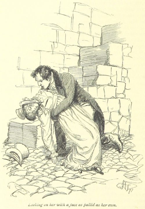 Jane Austen Persuasion - looking on her with a face as pallid as her own