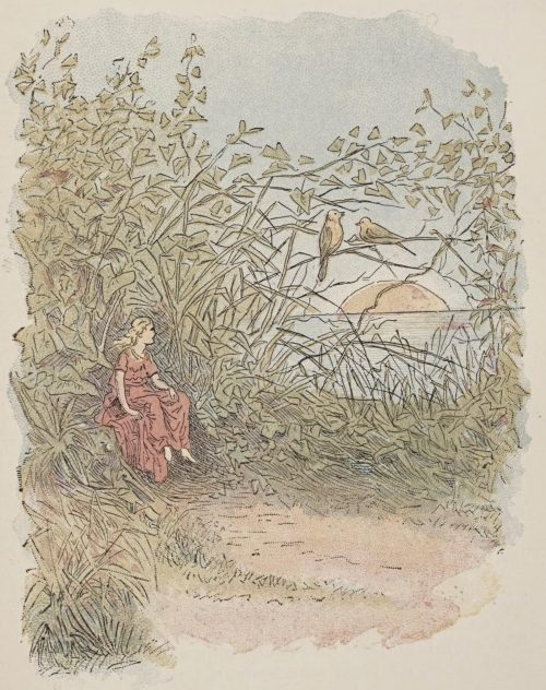 Thumbelina Fairy Tale by Hans Christian Andersen - Thumbelina Watching Birds