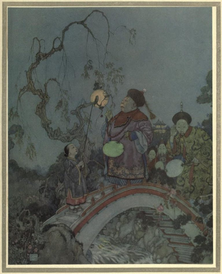 The Nightingale Illustration by Edmund Dulac - Is it possible? said the gentleman-in-waiting. I should never have thought it was like that
