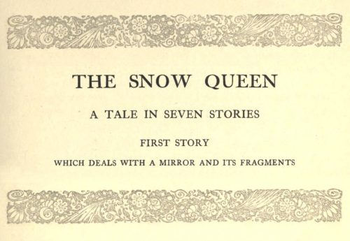 The Snow Queen A Tale In Seven Stories by Hans Christian Andersen