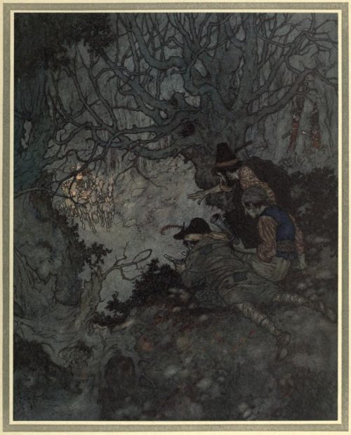 The Snow Queen Illustration by Edmund Dulac - It is gold, it is gold! they cried