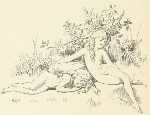 Sleeping Fairies Illustration by E. Gertrude Thomson