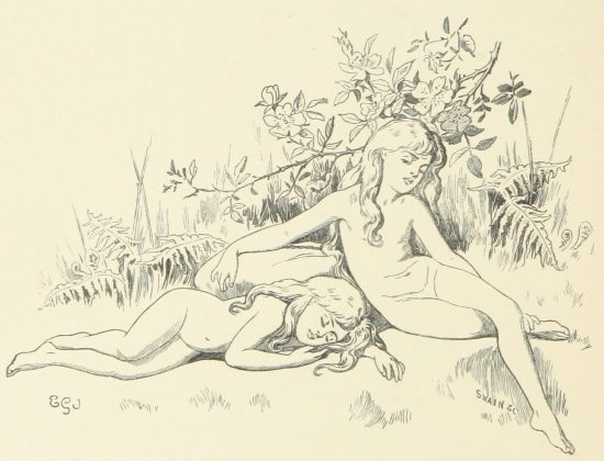 Sleeping Fairies Illustration by E. Gertrude Thomson