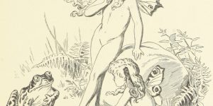Fairies and Frog Illustration by E. Gertrude Thomson