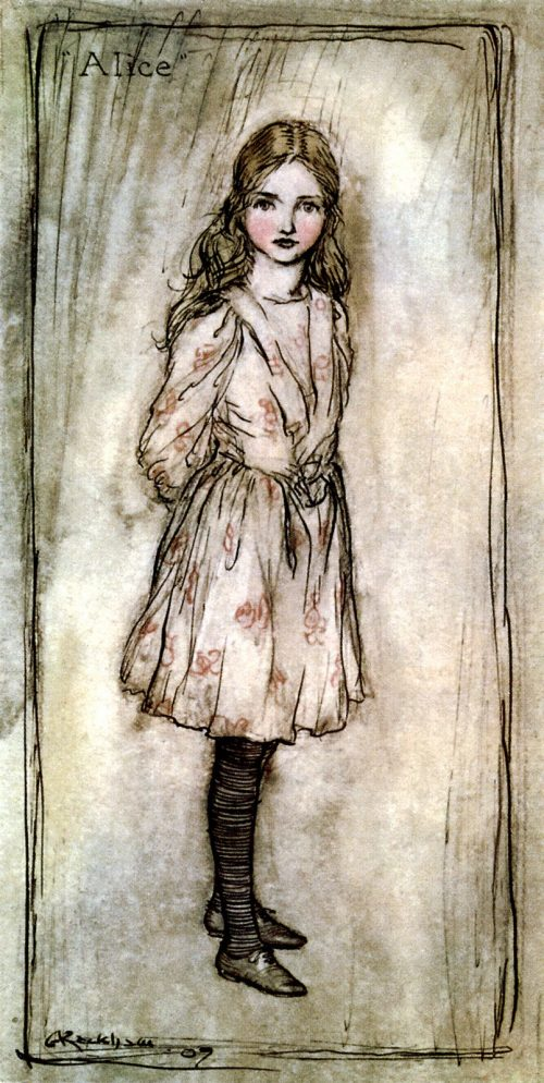 Alice's Adventures in Wonderland : Alice Illustration by Arthur Rackham