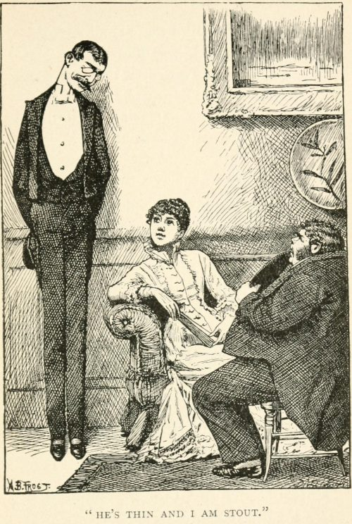 Size and Tears Poem - He's thin and I am stout Illustration by Arthur B. Frost