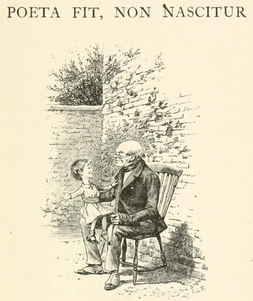 Poeta fit, non nascitur Poem - Child on old man's knee Illustration by Arthur B. Frost