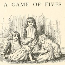 A Game of Fives Poem - Five little girls Illustration by Arthur B. Frost
