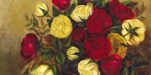 Roses Still Life Painting by Robert S. Duncanson