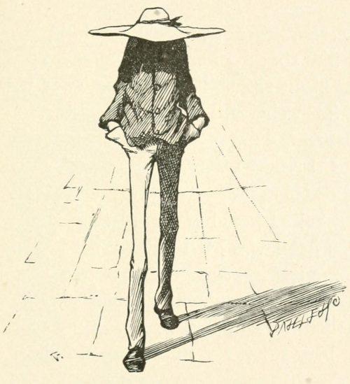 Hiawatha's Photographing Poem - Thus departed Hiawatha Illustration by Arthur B. Frost