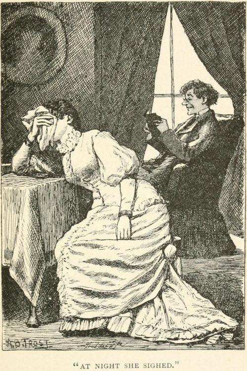 Melancholetta Poem - At night she sighed Illustration by Arthur B. Frost
