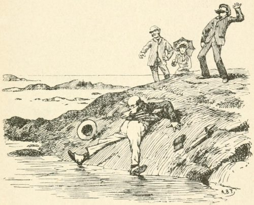 A Sea Dirge Poem - As I heavily slip into every pool Illustration by Arthur B. Frost