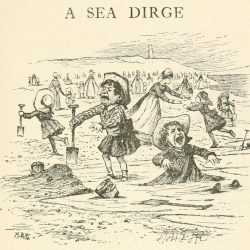 A Sea Dirge Poem - The sea, beach and children Illustration by Arthur B. Frost