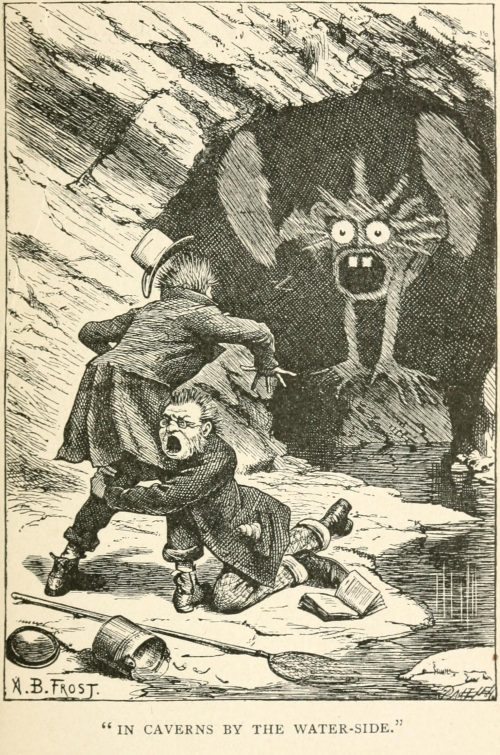 Phantasmagoria Poem - In caverns by the water-side Illustration by Arthur B. Frost