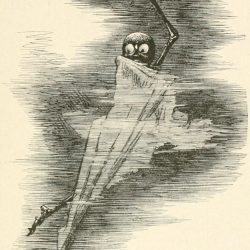 Phantasmagoria Poem - The phantom Illustration by Arthur B. Frost