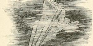 Phantasmagoria Poem - The phantom Illustration by Arthur B. Frost