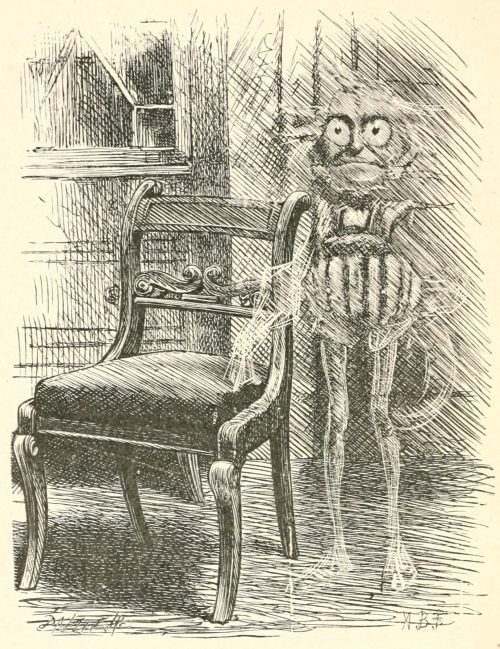 Phantasmagoria Poem - The Thing Behind a Chair Illustration by Arthur B. Frost