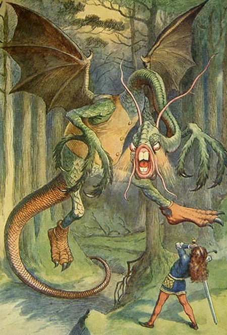 The Jabberwocky Illustration by John Tenniel