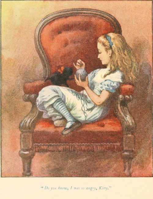 Through the Looking-Glass - Do you know, I was so angry, Kitty Illustration by John Tenniel
