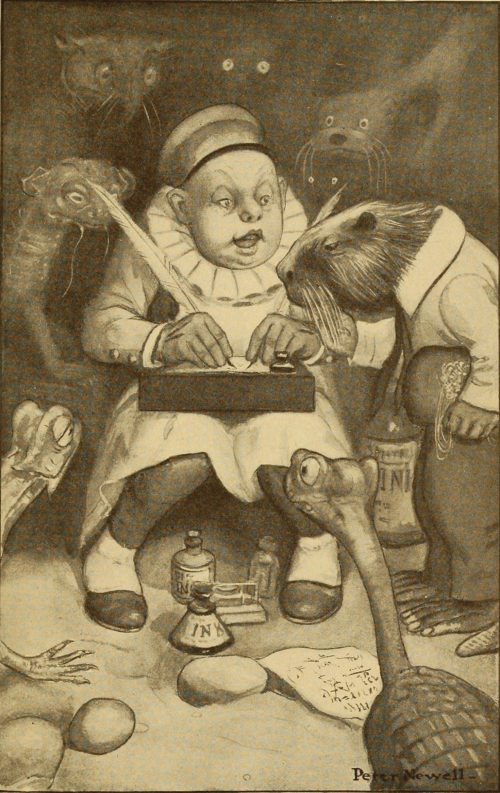 The Hunting of The Snark Poem - So engrossed was the Butcher, he heeded them not Illustration by Peter Newell